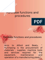 11.Purchase Functions and Procedures