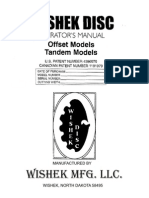Wishek Disc Harrows Operators Manual