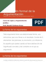 LÓGICA Y ARGUMENTACIÓN JURÍDICA  - Concepción formal