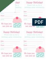 Spring Cupcake Invite