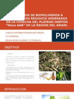 Obtención de Biopolimeros a Partir de Los Residuos