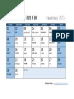 Calendário - Novembro 2015 - Aophotoaday