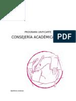 Programa Consejería Académica UnificArte 2016