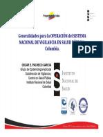 EPIDEMIOLOGIA Sistema Vigilancia Colombia