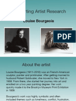Louise Bourgeois Artist Research