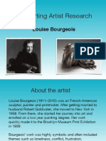 Louise Bourgeois Artist Research 4