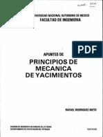 Apuntes de Principios de Mecanica de Yacimientos