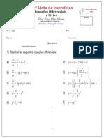 3ª Lista de Equações Diferenciais e Séries