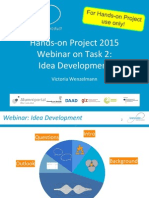 TASK 2 Webinar Idea Development