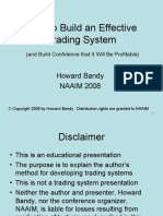 Bandy -- How to Build an Effective Trading System