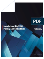 Nokia Mobile VPN Policy Specification