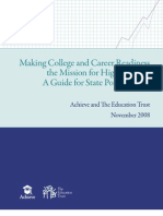 Making College and Career Readiness the Mission for High School