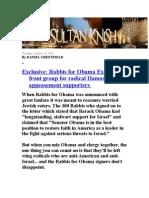 Rabbis  For HAMAS (obama)