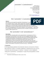 How Posmodern is Postmodernism