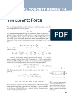Chapter 2 CCR 14 Lorentz Force