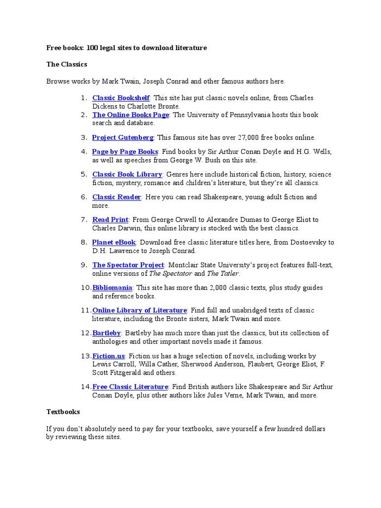Free Books | Textbook | Novels