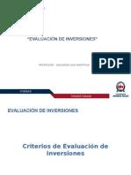 2. Criterios de Evaluación de Inversiones