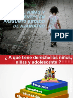 Niños, Niñas y Adolescentes en Presunto Estado de abandono