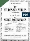 IMSLP06648-Bortkiewicz - Op.29 - 12 Etudes Nouvelles - Bk.2