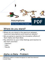 Assumptions in Simulation Model Building