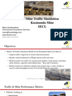 Kusmunda Mine Traffic Simulation Simulation