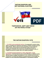 The Haitian Diaspora Vote