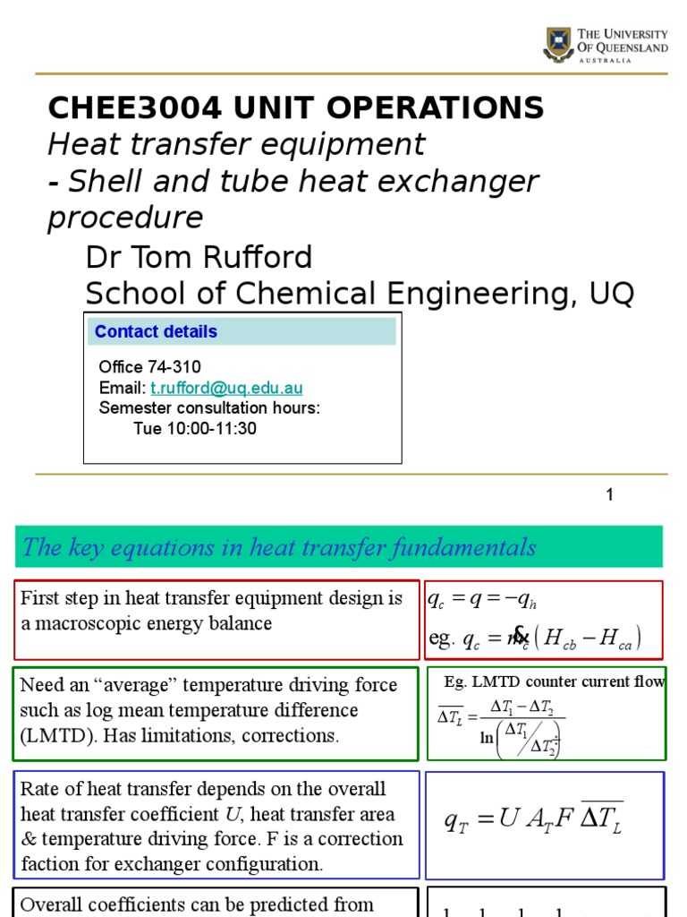 Heat Transfer Equipment - Powerpoint | Heat Exchanger | Heat