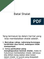 Batal Shalat