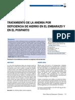 Tto de La Anemia Por Deficiencia de Hierro en El Embarazo y en El Posparto
