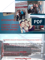 Presentacion de Proyecto Transbarca