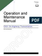 CX31Caterpillar MaintenanceManual