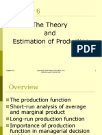 theory and estimation of production