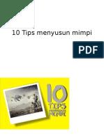 10 Tips Menyusun Mimpi