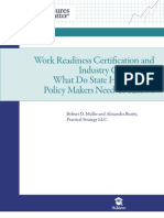 Work Readiness Certification and Industry Credentials