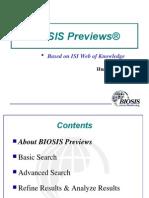 Biosis Previews(黄成)