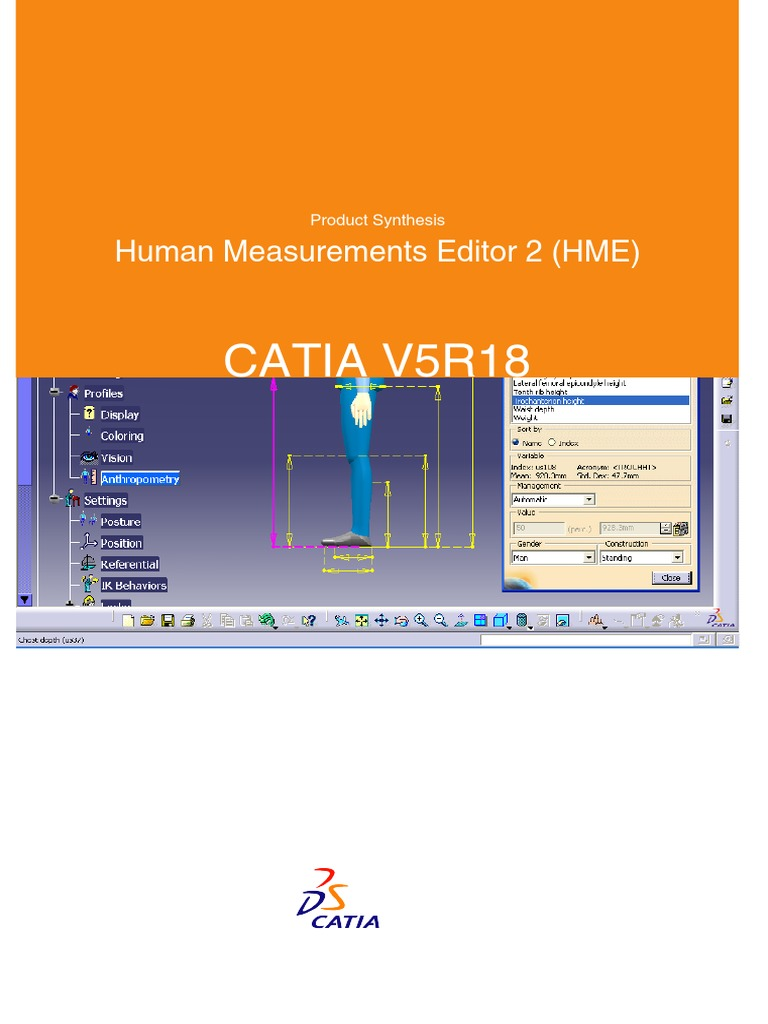 CATIA Human Measurements Editor 2 (HME) | Anthropometry