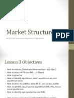ERP Lesson 3 Objectives - Market Structure