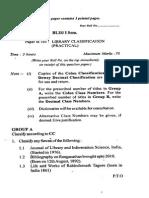 Blis-i Semester (Paper B-103 - Library Classification (Practical)) Du