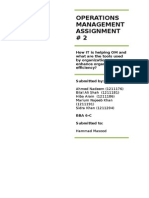 Operations Management Assignment 2