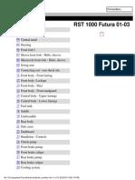 Futura Parts List