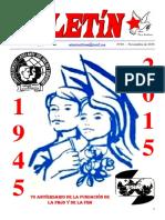 Boletín del Ateneo Paz y Socialismo del mes de noviembre de 2015