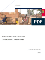 002. Water Supply and Sanitation in Low- Income Areas