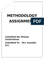Methodology Assignment