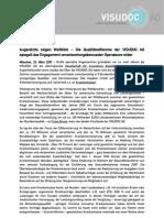 Pressemitteilung-Qualitätsoffensive-Augenheilkunde-VISUDOC AG-Augenlaserzentren_2010-03-23