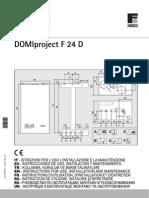 DOMIproject F 24 D Instrucciones