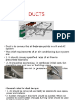 Ducts design for air condidtioning