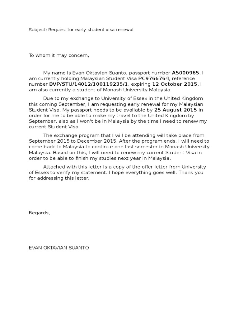Early visa renewal request letter thecheapjerseys Choice Image
