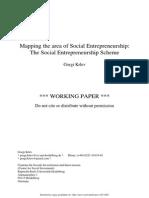 Mapping the Area of Social Entrepreneurship - The Scheme