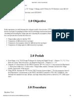 Experiment 5 - Inverter Characteristics