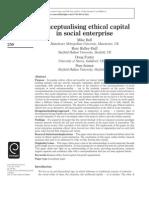 Conceptualising Ethical Capital in Social Enterprise
